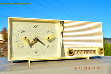Load image into Gallery viewer, SOLD! - Dec 30, 2014 - IVORY Retro Jetsons Vintage 1958 Westinghouse Model 645T6 AM Tube Clock Radio WORKS! - [product_type} - Westinghouse - Retro Radio Farm