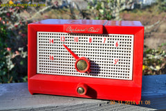 SOLD! - Dec 24, 2014 - CHERRY BOMB Red Retro Jetsons Vintage 1956 Packard Bell 5R1 AM Tube Radio WORKS! , Vintage Radio - Packard-Bell, Retro Radio Farm  - 3