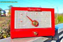 Load image into Gallery viewer, SOLD! - Dec 24, 2014 - CHERRY Red Retro Jetsons Vintage 1956 Packard Bell 5R1 AM Tube Radio WORKS! - [product_type} - Packard-Bell - Retro Radio Farm
