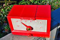 SOLD! - Dec 24, 2014 - CHERRY BOMB Red Retro Jetsons Vintage 1956 Packard Bell 5R1 AM Tube Radio WORKS! , Vintage Radio - Packard-Bell, Retro Radio Farm  - 2