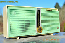 Load image into Gallery viewer, SOLD! - Feb 9, 2016 - WORKING PORTABLE Turquoise Retro Jetsons Vintage 1957 RCA Victor Model TX1-HE AM Battery Only Solid State Radio - [product_type} - RCA Victor - Retro Radio Farm