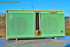 SOLD! - Feb 9, 2016 - WORKING PORTABLE Turquoise Retro Jetsons Vintage 1957 RCA Victor Model TX1-HE AM Battery Only Solid State Radio , Vintage Radio - RCA Victor, Retro Radio Farm  - 2