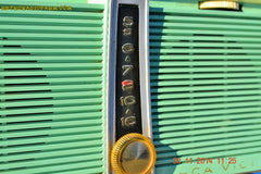 SOLD! - Feb 9, 2016 - WORKING PORTABLE Turquoise Retro Jetsons Vintage 1957 RCA Victor Model TX1-HE AM Battery Only Solid State Radio , Vintage Radio - RCA Victor, Retro Radio Farm  - 5