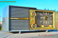 Load image into Gallery viewer, SOLD! - Dec 5, 2014 - BLUE SLATE Retro Jetsons Vintage 1959 Motorola Model 66C AM Tube Clock Radio WORKS! - [product_type} - Motorola - Retro Radio Farm
