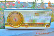 Load image into Gallery viewer, SOLD! - Dec 17, 2014 - CHARCOAL Retro Jetsons Vintage 1957 Travler Model 50C323 AM Tube Clock Radio WORKS! - [product_type} - Travler - Retro Radio Farm