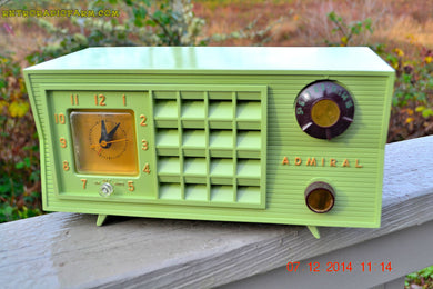 SOLD! - Dec 8, 2014 - PISTACHIO GREEN Vintage 1955 Admiral 5R3 AM Tube Radio Works! - [product_type} - Admiral - Retro Radio Farm