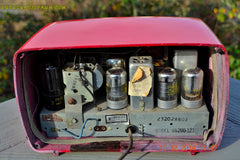 SOLD! - Feb 2, 2015 - LIPSTICK RED Vintage Deco Retro 1947 Philco Transitone 48-200 AM Bakelite Tube Radio Works! Wow! , Vintage Radio - Philco, Retro Radio Farm  - 11