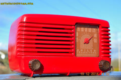 SOLD! - Feb 2, 2015 - LIPSTICK RED Vintage Deco Retro 1947 Philco Transitone 48-200 AM Bakelite Tube Radio Works! Wow! , Vintage Radio - Philco, Retro Radio Farm  - 3