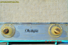 Load image into Gallery viewer, SOLD! - Feb 22, 2016 - RARE BIRD Turquoise Retro Jetsons 1959 Olympic Model 553 Tube AM Radio Totally Restored! - [product_type} - Olympic - Retro Radio Farm