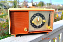 Load image into Gallery viewer, SOLD! - April 8, 2015 - COPPERTONE and Ivory Retro Jetsons Vintage 1960 Sears Model 6036 AM Tube Clock Radio Totally Restored! - [product_type} - RCA Victor - Retro Radio Farm