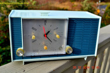 Load image into Gallery viewer, SOLD! - March 24, 2015 - POWDER BLUE TUXEDO Retro Jetsons Vintage 1961 RCA Model RHD21A Tube Clock Radio Totally Restored! , Vintage Radio - RCA Victor, Retro Radio Farm  - 4
