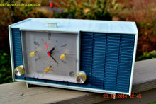 Load image into Gallery viewer, SOLD! - March 24, 2015 - POWDER BLUE TUXEDO Retro Jetsons Vintage 1961 RCA Model RHD21A Tube Clock Radio Totally Restored! - [product_type} - RCA Victor - Retro Radio Farm