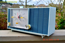 Load image into Gallery viewer, SOLD! - March 24, 2015 - POWDER BLUE TUXEDO Retro Jetsons Vintage 1961 RCA Model RHD21A Tube Clock Radio Totally Restored! , Vintage Radio - RCA Victor, Retro Radio Farm  - 5