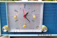 Load image into Gallery viewer, SOLD! - March 24, 2015 - POWDER BLUE TUXEDO Retro Jetsons Vintage 1961 RCA Model RHD21A Tube Clock Radio Totally Restored! , Vintage Radio - RCA Victor, Retro Radio Farm  - 6