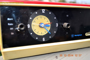 SOLD! - Jan 29, 2015 - MATADOR RED and white AM/FM Retro Vintage 1960's Westinghouse Model RLF4220A Solid State Radio WORKS! - [product_type} - Westinghouse - Retro Radio Farm