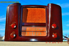 Load image into Gallery viewer, SOLD! - Oct 17, 2015 - ART DECO 1948 Stromberg Carlson Model 1204 AM/FM Brown Swirly Marbled Bakelite Tube Radio Totally Restored! , Vintage Radio - Stromberg Carlson, Retro Radio Farm  - 2