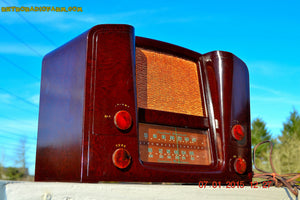SOLD! - Oct 17, 2015 - ART DECO 1948 Stromberg Carlson Model 1204 AM/FM Brown Swirly Marbled Bakelite Tube Radio Totally Restored! - [product_type} - Stromberg Carlson - Retro Radio Farm