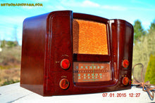 Load image into Gallery viewer, SOLD! - Oct 17, 2015 - ART DECO 1948 Stromberg Carlson Model 1204 AM/FM Brown Swirly Marbled Bakelite Tube Radio Totally Restored! , Vintage Radio - Stromberg Carlson, Retro Radio Farm  - 4