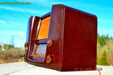 Load image into Gallery viewer, SOLD! - Oct 17, 2015 - ART DECO 1948 Stromberg Carlson Model 1204 AM/FM Brown Swirly Marbled Bakelite Tube Radio Totally Restored! , Vintage Radio - Stromberg Carlson, Retro Radio Farm  - 7