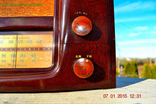 Load image into Gallery viewer, SOLD! - Oct 17, 2015 - ART DECO 1948 Stromberg Carlson Model 1204 AM/FM Brown Swirly Marbled Bakelite Tube Radio Totally Restored! , Vintage Radio - Stromberg Carlson, Retro Radio Farm  - 9
