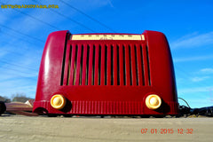 SOLD! - Jan 23, 2015 - CRANBERRY COCKTAIL Art Deco Industrial Retro 1948 Addison Model 55 Bakelite AM Tube AM Radio WORKS! , Vintage Radio - Addison, Retro Radio Farm  - 5