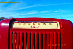 SOLD! - Jan 23, 2015 - CRANBERRY COCKTAIL Art Deco Industrial Retro 1948 Addison Model 55 Bakelite AM Tube AM Radio WORKS! , Vintage Radio - Addison, Retro Radio Farm  - 7