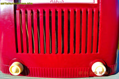 SOLD! - Jan 23, 2015 - CRANBERRY COCKTAIL Art Deco Industrial Retro 1948 Addison Model 55 Bakelite AM Tube AM Radio WORKS! , Vintage Radio - Addison, Retro Radio Farm  - 8