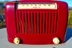 SOLD! - Jan 23, 2015 - CRANBERRY COCKTAIL Art Deco Industrial Retro 1948 Addison Model 55 Bakelite AM Tube AM Radio WORKS! , Vintage Radio - Addison, Retro Radio Farm  - 6