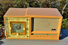 Load image into Gallery viewer, SOLD! - Dec 2, 2016 - SAHARA SANDY TAN Retro Space Age 1956 Arvin Tube AM Clock Radio Totally Restored! - [product_type} - Arvin - Retro Radio Farm