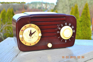 SOLD! - Aug 12, 2015 - GOLDEN AGE 1949 Jewel Model 910 AM/ Brown Swirly Marbled Bakelite Tube Radio Totally Restored! - [product_type} - Jewel - Retro Radio Farm