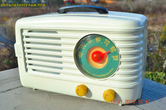 SOLD! - March 29, 2015 - BEAUTIFUL ART DECO Ivory Retro Vintage 1950 Emerson 642 Bakelite AM Tube Radio Totally Restored! , Vintage Radio - Emerson, Retro Radio Farm  - 4