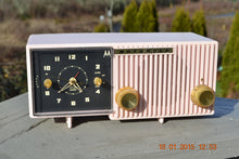 Load image into Gallery viewer, SOLD! - Jan 31, 2015 - LUSCIOUS PINK Retro Jetsons 1956 Motorola 57CF Tube AM Clock Radio WORKS! - [product_type} - Motorola - Retro Radio Farm