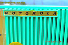 Load image into Gallery viewer, SOLD! - Sept 12, 2015 - BEAUTIFUL SEA GREEN Retro Jetsons 1956 Motorola 56CS Tube AM Clock Radio Totally Restored! - [product_type} - Motorola - Retro Radio Farm