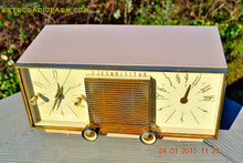 Load image into Gallery viewer, SOLD! - Mar 15, 2016 - BEIGE Pink Mid Century Retro Zenith Model G516L AM Clock Radio Totally Restored! , Vintage Radio - Zenith, Retro Radio Farm  - 1