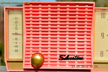 Load image into Gallery viewer, SOLD! - Sept 26, 2016 - BARBIE PINK Mid Century Retro Jetsons 1961 Silvertone Model 8027 AM Clock Radio Totally Restored! - [product_type} - Silvertone - Retro Radio Farm