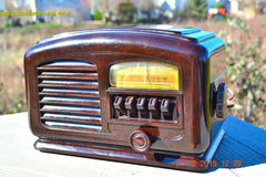 SOLD! - Feb 19, 2016 - ART DECO 1940 AIRLINE Model 04BR-513 AM Brown Swirly Marbled Bakelite Tube Radio Totally Restored! , Vintage Radio - Airline, Retro Radio Farm  - 3