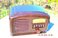 SOLD! - Feb 19, 2016 - ART DECO 1940 AIRLINE Model 04BR-513 AM Brown Swirly Marbled Bakelite Tube Radio Totally Restored! , Vintage Radio - Airline, Retro Radio Farm  - 8