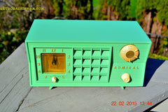 SOLD! - March 20, 2015 - PISTACHIO GREEN Retro Jetsons Mid Century Vintage 1955 Admiral 5R3 AM Tube Radio Totally Restored! , Vintage Radio - Admiral, Retro Radio Farm  - 4