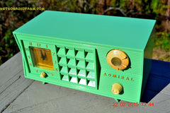 SOLD! - March 20, 2015 - PISTACHIO GREEN Retro Jetsons Mid Century Vintage 1955 Admiral 5R3 AM Tube Radio Totally Restored! , Vintage Radio - Admiral, Retro Radio Farm  - 3