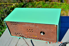 SOLD! - March 20, 2015 - PISTACHIO GREEN Retro Jetsons Mid Century Vintage 1955 Admiral 5R3 AM Tube Radio Totally Restored! , Vintage Radio - Admiral, Retro Radio Farm  - 9