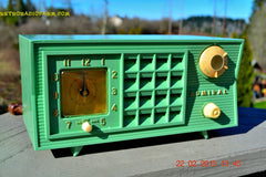 SOLD! - March 20, 2015 - PISTACHIO GREEN Retro Jetsons Mid Century Vintage 1955 Admiral 5R3 AM Tube Radio Totally Restored! , Vintage Radio - Admiral, Retro Radio Farm  - 2
