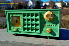SOLD! - March 20, 2015 - PISTACHIO GREEN Retro Jetsons Mid Century Vintage 1955 Admiral 5R3 AM Tube Radio Totally Restored! , Vintage Radio - Admiral, Retro Radio Farm  - 5