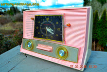 Load image into Gallery viewer, SOLD! - Aug 19, 2015 - POWDER PINK Retro Jetsons Vintage 1957 RCA Victor Model 1-RD-63 AM Tube Clock Radio Totally Restored! - [product_type} - RCA Victor - Retro Radio Farm