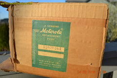 SOLD! - Aug 19 - 2015 - WOWIE! - Aqua Blue Green Retro Jetsons 1956 Motorola 57CD Tube AM Clock Radio NOS New Old Stock Cabinet Totally Restored! , Vintage Radio - Motorola, Retro Radio Farm  - 11