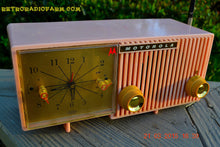 Load image into Gallery viewer, SOLD! - March, 29, 2015 - BLUETOOTH MP3 READY - PRETTY IN PINK Retro Jetsons 1956 Motorola 57CF Tube AM Clock Radio Totally Restored! , Vintage Radio - Motorola, Retro Radio Farm  - 4