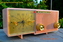 Load image into Gallery viewer, SOLD! - March, 29, 2015 - BLUETOOTH MP3 READY - PRETTY IN PINK Retro Jetsons 1956 Motorola 57CF Tube AM Clock Radio Totally Restored! , Vintage Radio - Motorola, Retro Radio Farm  - 5