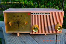 Load image into Gallery viewer, SOLD! - March, 29, 2015 - BLUETOOTH MP3 READY - PRETTY IN PINK Retro Jetsons 1956 Motorola 57CF Tube AM Clock Radio Totally Restored! , Vintage Radio - Motorola, Retro Radio Farm  - 3