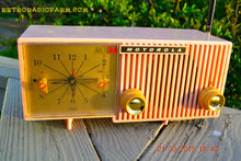 Load image into Gallery viewer, SOLD! - March, 29, 2015 - BLUETOOTH MP3 READY - PRETTY IN PINK Retro Jetsons 1956 Motorola 57CF Tube AM Clock Radio Totally Restored! - [product_type} - Motorola - Retro Radio Farm