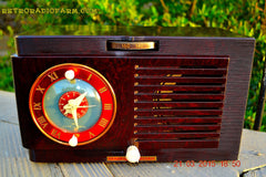SOLD! - April 19, 2015 - BLUETOOTH MP3 READY - Art Deco 1952 General Electric Model 66 AM Brown Bakelite Tube Clock Radio Totally Restored! , Vintage Radio - General Electric, Retro Radio Farm  - 4