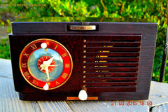 SOLD! - April 19, 2015 - BLUETOOTH MP3 READY - Art Deco 1952 General Electric Model 66 AM Brown Bakelite Tube Clock Radio Totally Restored! , Vintage Radio - General Electric, Retro Radio Farm  - 8